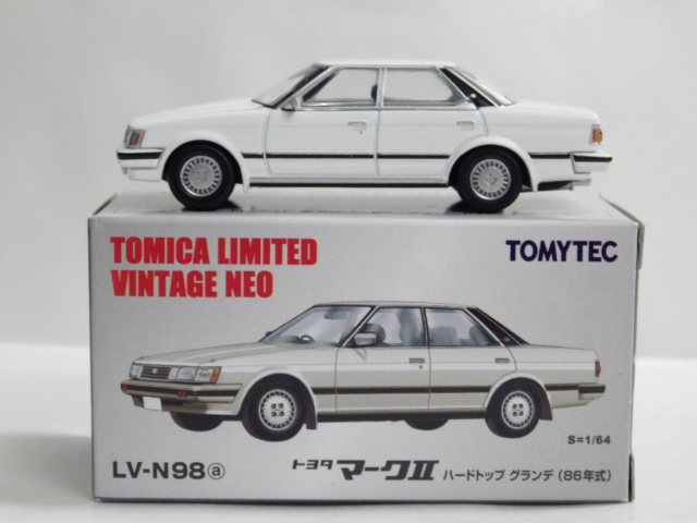 1/64 TLV-NEO LV-N98a トヨタ マーク� ハードトップ グランデ 86年式