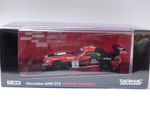 1/64 TARMAC 限定品 メルセデス AMG GT3 eRacing Grand Prix Hongkong #1